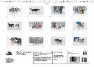 Emotional Moments: The Art of Huskys. UK-Version (Wall Calendar