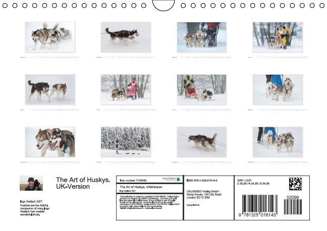 Emotional Moments: The Art of Huskys. UK-Version (Wall Calendar - zum Schließen ins Bild klicken