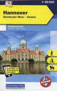KuF Deutschland Outdoorkarte 57 Hannover / Deister 1 : 50 000