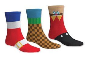 SEGA Sonic-The Hedgehog - Socken Set 3er-Pack, One Size EU 39-46