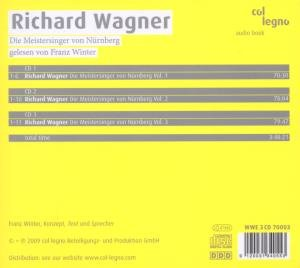 "Franz Winter liest Richard Wagner ""Die Meistersinger""/3 CDs"