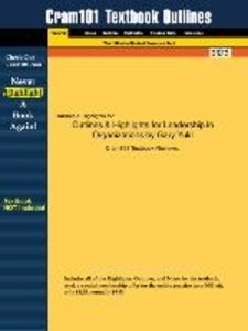Outlines & Highlights for Leadership in Organizations by Gary Yu