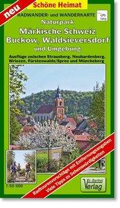 Radwander- und Wanderkarte Naturpark Märkische Schweiz, Buckow,