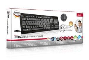 Speedlink SL-6473-BK LITHOS Acrylic Scissor Tastatur, schwarz