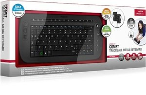 COMET Trackball Media Keyboard SL-6495-RBK, black