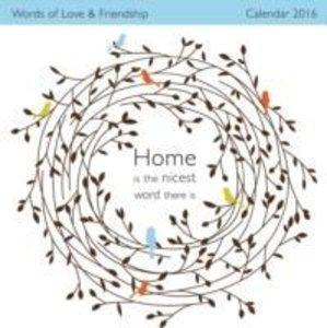 Words of Love & Friendship Wall Calendar 2016 (Art Calendar)