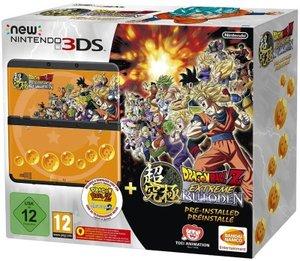 Nintendo New 3DS Konsole - Schwarz inklusive Dragonball Z