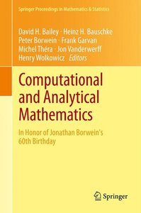 Computational and Analytical Mathematics