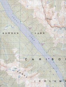 Bowron Lakes 93 H/2&7 1 : 50 000