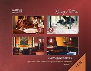 Hintergrundmusik: Vol.1-4-Gemafreie Musik (4CDs)
