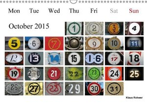 2 1000 15 - nothing but numbers (Wall Calendar 2015 DIN A3 Lands