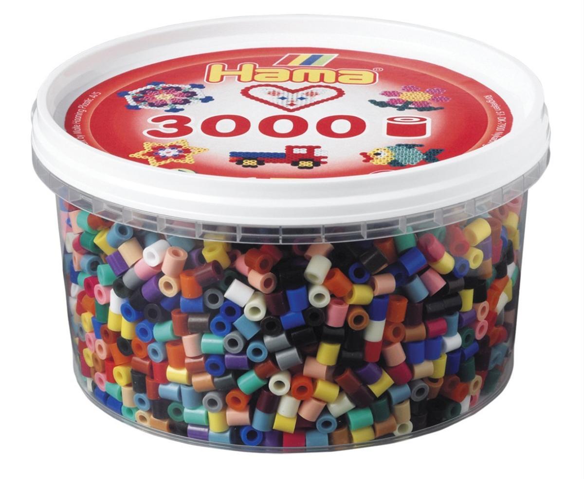 Hama 210-67 - Perlen Dose, 3000 Stück, 21 Vollton Farben, Farbmi - zum Schließen ins Bild klicken