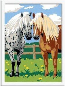 Ravensburger 28180 - Glückliche Pferde, MNZ, Malen nach Zahlen