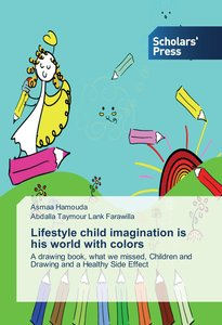 Lifestyle child imagination is his world with colors