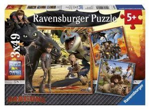 Drachenreiter. Puzzle 3 X 49 Teile