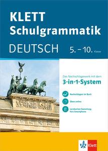 Klett-Schulgrammatik. Deutsch 5.-10. Klasse mit Online-Übungen u