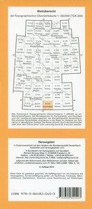 Topographische Übersichtskarte CC8726 Kempten (Allgäu) 1 : 200 0