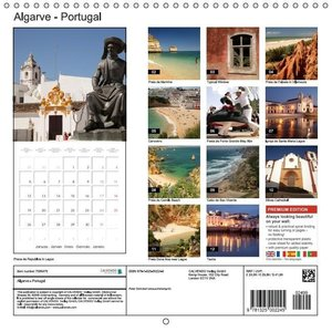 Algarve - Portugal (Wall Calendar 2015 300 × 300 mm Square)