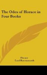 The Odes of Horace in Four Books