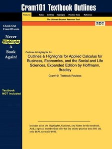 Outlines & Highlights for Applied Calculus for Business, Economi