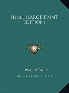 Hegel (LARGE PRINT EDITION)