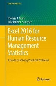 Excel 2016 for Human Resource Management Statistics