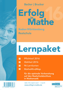 Erfolg in Mathe 2016 Lernpaket Realschulabschluss Baden-Württemb