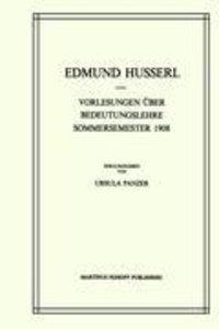 Vorlesungen Über Bedeutungslehre Sommersemester 1908