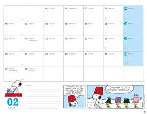Peanuts Monatsplaner - Kalender 2017