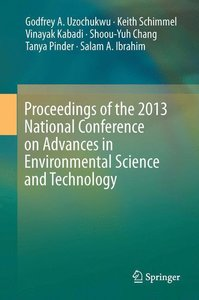 Proceedings of the 2013 National Conference on Advances in Envir