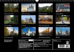 Monuments of Russia 2015 (Wall Calendar 2015 DIN A3 Landscape)