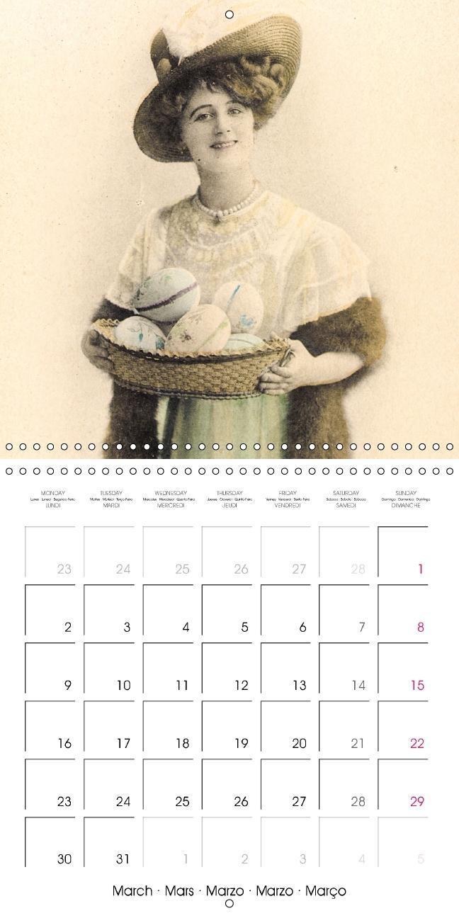 Eggcellent - Old Easter greetings cards (Wall Calendar 2015 300 - zum Schließen ins Bild klicken