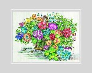 Schipper Malen nach Zahlen. Aquarell Blumenkorb &Tulpen