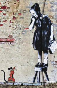 "Banksy ""Girl On Stool"""