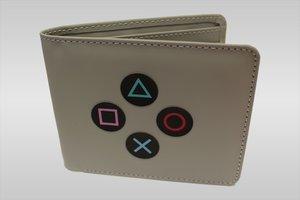 PlayStation - Controller Buttons Geldbörse, grau (Offiziell lize