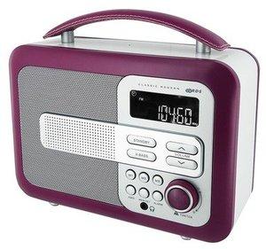 Tragbares Holzradio TR21 - violett
