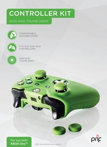 Controller Kit Xbox One - Cover + Thumb Grips (Grün)