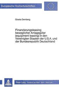 Finanzierungsleasing beweglicher Anlagegüter (equipment leasing)