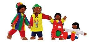 Goki 51817 - Biegepuppen Afrikanische Famile