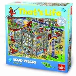 Goliath 71311006 - Thats Life Wimmel Puzzle Baustelle, 1000 Teil