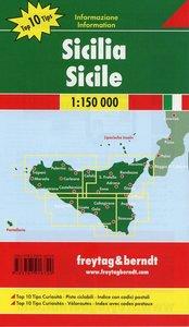 Sizilien - Palermo, Autokarte 1:150.000