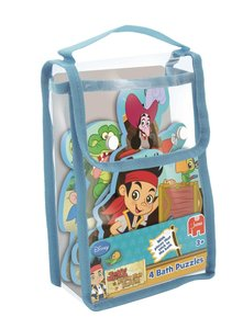 Disney Jake & The Neverland Pirates 4in1 Badepuzzle - 2/3/3/4 Te