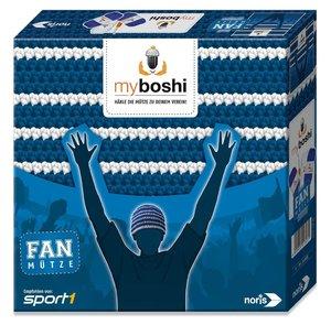 Noris 606311347 - MyBoshi Fan Mütze, blau-weiß