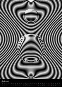 Sattler, H: Monochrome Strukturen digitaler Kunst (Wandkalen