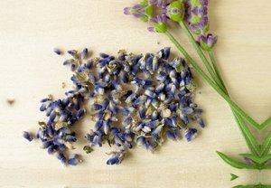 Premium Textil-Leinwand 45 cm x 30 cm quer Getrocknete Lavendelb