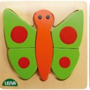 Lena 32067 - Holzpuzzle Schmetterling