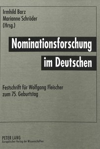 Nominationsforschung im Deutschen
