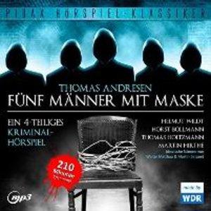 Fünf Männer mit Maske