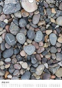 Stone Hearts 2015 (Wall Calendar 2015 DIN A4 Portrait)