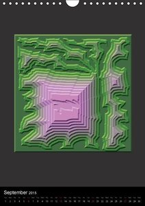Chaos or Order Computer Generated Art (Wall Calendar 2015 DIN A4